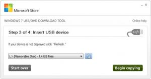 Enlarge Windows 7 USB/DVD Download Tool Screenshot