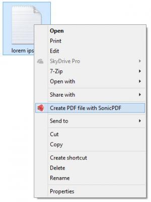 Enlarge Sonic PDF Creator Screenshot
