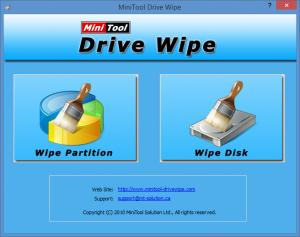 Enlarge MiniTool Drive Wipe Screenshot