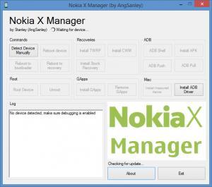 Enlarge Nokia X Manager Screenshot