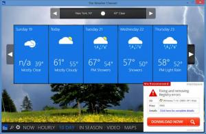 Enlarge The Weather Channel Screenshot