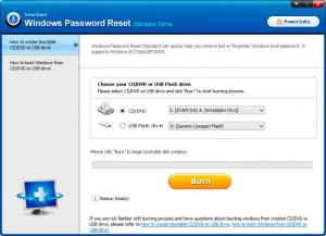Enlarge Tenorshare Windows Password Reset Screenshot