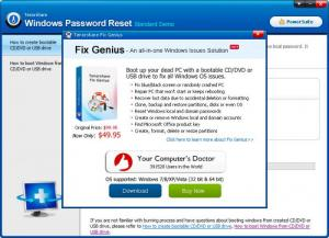 Enlarge Tenorshare Windows Password Reset Screenshot