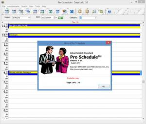 Enlarge CyberMatrix Pro Schedule Screenshot