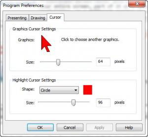 Enlarge Presentation Screen Master Screenshot