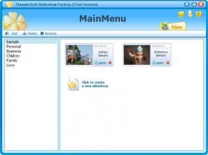 Enlarge ThunderSoft Slideshow Factory Screenshot