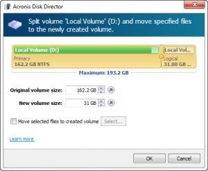 Enlarge Acronis Disk Director Screenshot