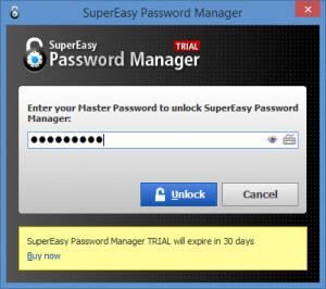 Enlarge SuperEasy Password Manager Screenshot