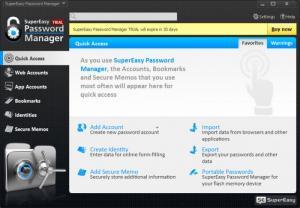Enlarge SuperEasy Password Manager Screenshot