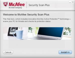 Enlarge McAfee Security Scan Plus Screenshot