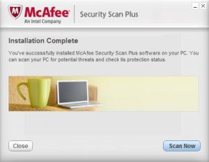 Enlarge McAfee Security Scan Plus Screenshot