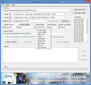 Enlarge BDtoAVCHD Screenshot