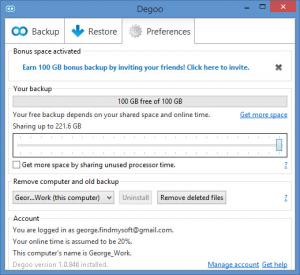Enlarge Degoo Screenshot