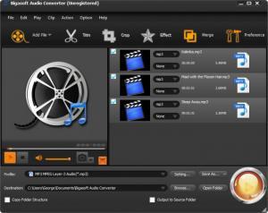 Enlarge Bigasoft Audio Converter Screenshot