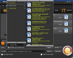 Enlarge Bigasoft Audio Converter Screenshot