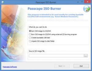 Enlarge Passcape ISO Burner Screenshot