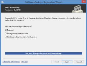 Enlarge O&O AutoBackup Screenshot