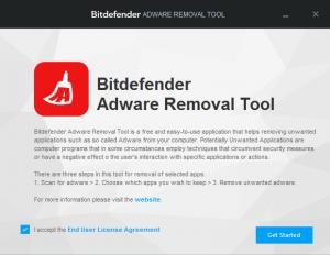 Enlarge Bitdefender Adware Removal Tool Screenshot