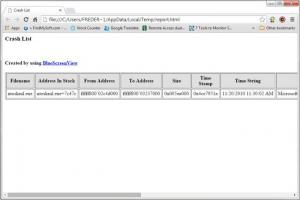 Enlarge BlueScreenView Screenshot