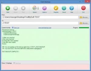 Enlarge Fast-Backup Screenshot