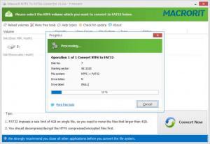 Enlarge Macrorit NTFS to FAT32 Converter Screenshot