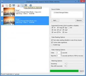 Enlarge Duplicate Video Search Screenshot