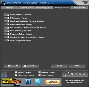Enlarge Simple System Tweaker Screenshot