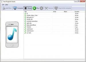 Enlarge Free Ringtone Studio Screenshot