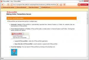 Enlarge K7 SecureWeb Screenshot