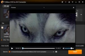 Enlarge TDMore DVD to AVI Converter Screenshot