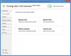 Enlarge Stronghold AntiMalware Screenshot