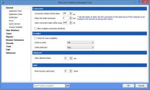 Enlarge Remote Desktop Manager Free Edition Screenshot