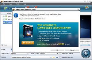 Enlarge Leawo Free Video Converter Screenshot