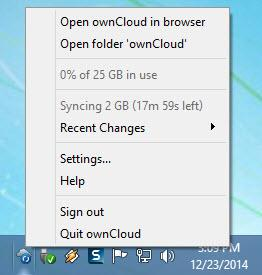 Enlarge ownCloud Screenshot