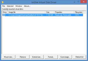 Enlarge ImDisk Virtual Disk Driver Screenshot