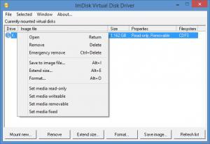 Enlarge ImDisk Virtual Disk Driver Screenshot