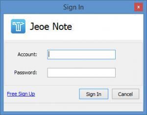 Enlarge Jeoe Note Screenshot