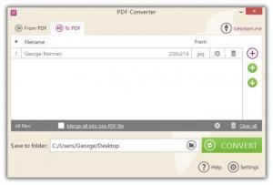 Enlarge Icecream PDF Converter Screenshot