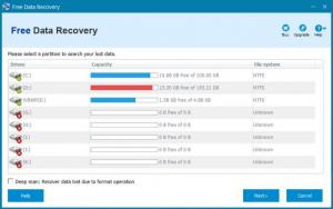 Enlarge ThunderSoft Free Data Recovery Screenshot