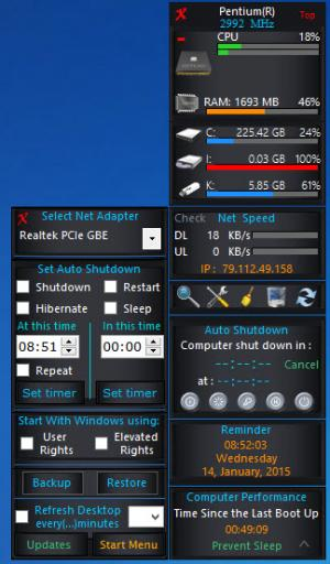 Enlarge W8 Sidebar Screenshot
