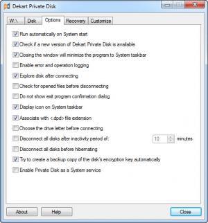 Enlarge Dekart Private Disk Screenshot