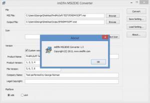 Enlarge imElfin MSI2EXE Converter Screenshot