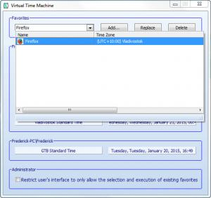Enlarge Virtual Time Machine Screenshot
