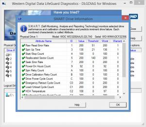 Enlarge Data Lifeguard Diagnostic Screenshot