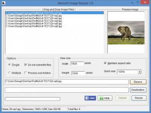 Enlarge Mwisoft Image Resizer Screenshot