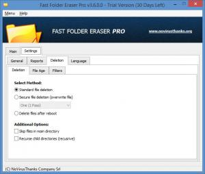 Enlarge Fast Folder Eraser Pro Screenshot