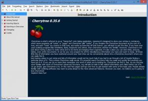 Enlarge CherryTree Screenshot