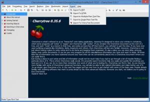 Enlarge CherryTree Screenshot