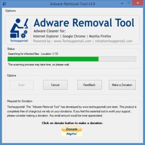 Enlarge Adware Removal Tool Screenshot