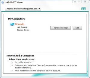 Enlarge LinkToMyPc Screenshot